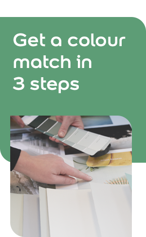 Get a colour match in 3 steps